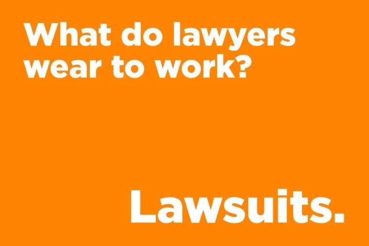 Corny jokes - what do lawyers wear to work?