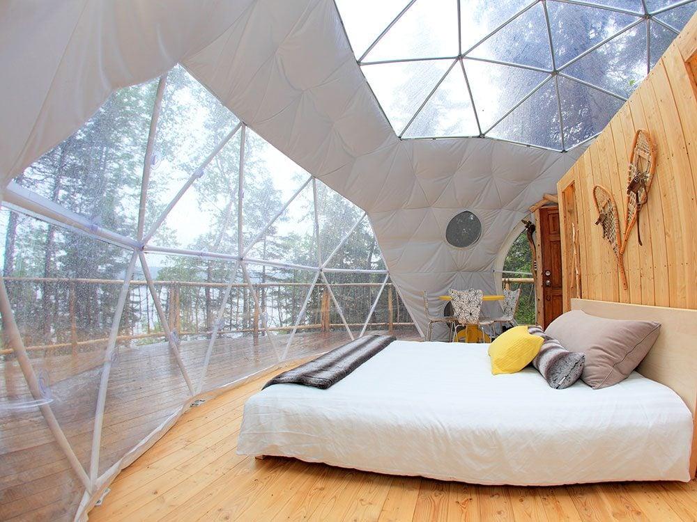 Domes, Cap Jaseux Adventure Park, Quebec