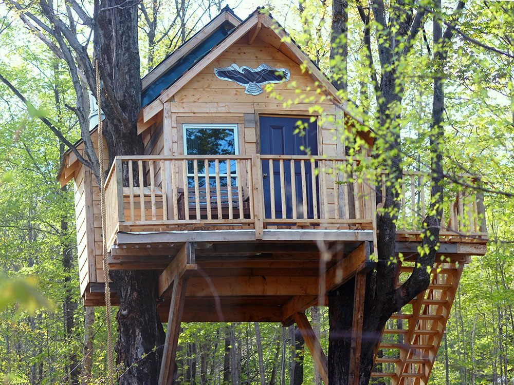 Au Diable Vert treehouse, Quebec