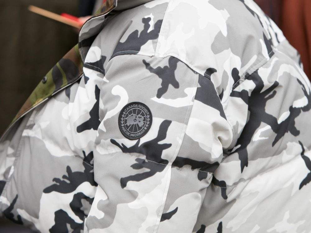 Camouflage Canada Goose jacket with logo