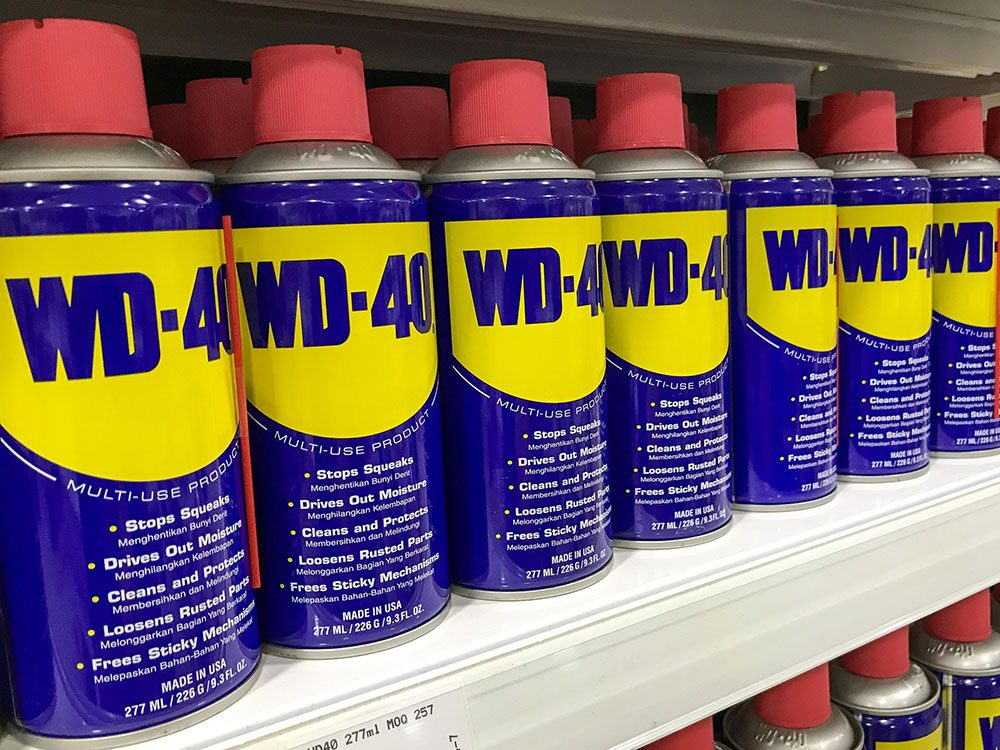 Car wash tricks using WD-40