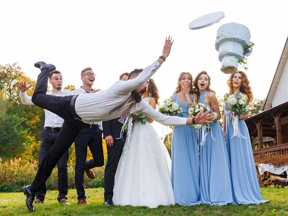 Funny wedding jokes - wedding fail