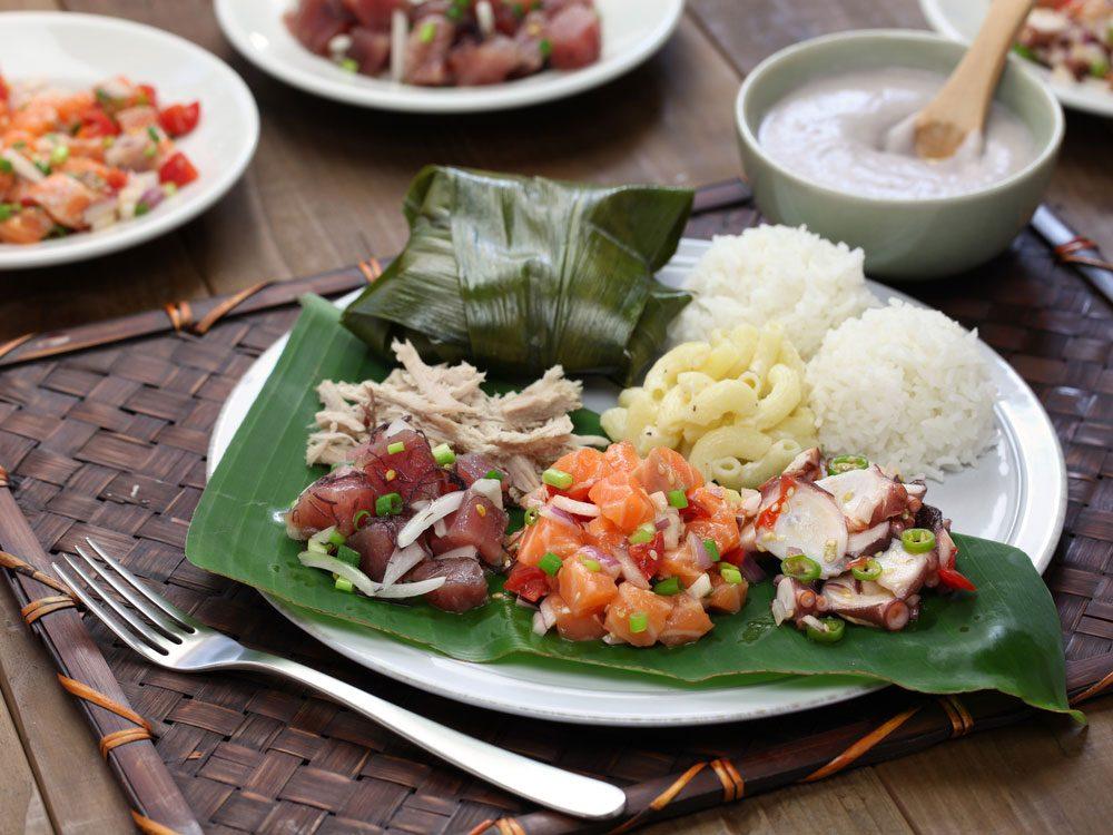 Traditional Hawaiian food