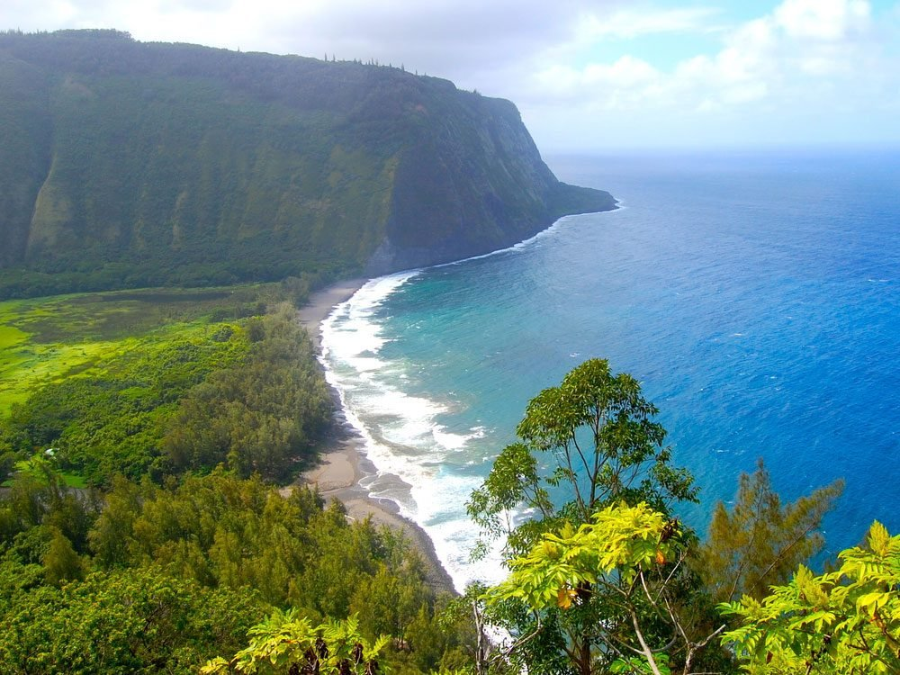 Waipo Valley scenic view in Hawaii