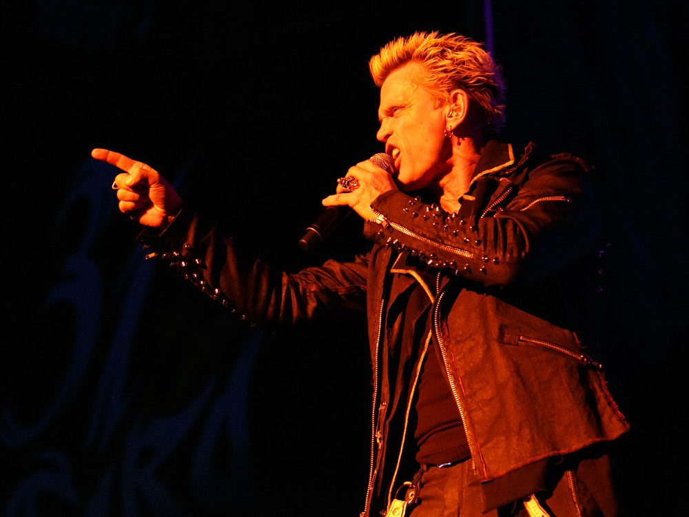 Rock musician Billy Idol