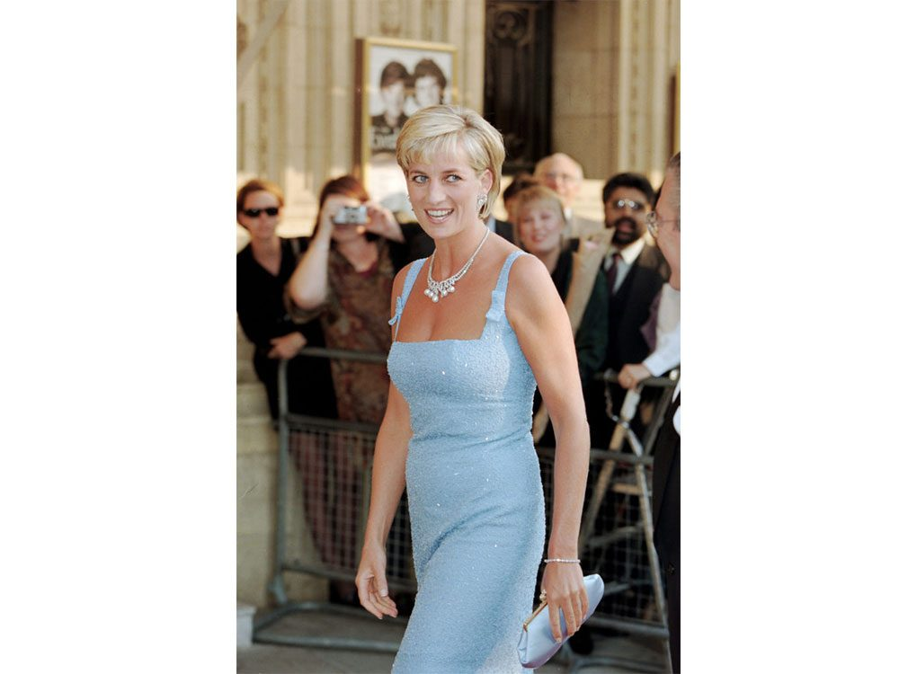 Princess Diana in a beautiful dress