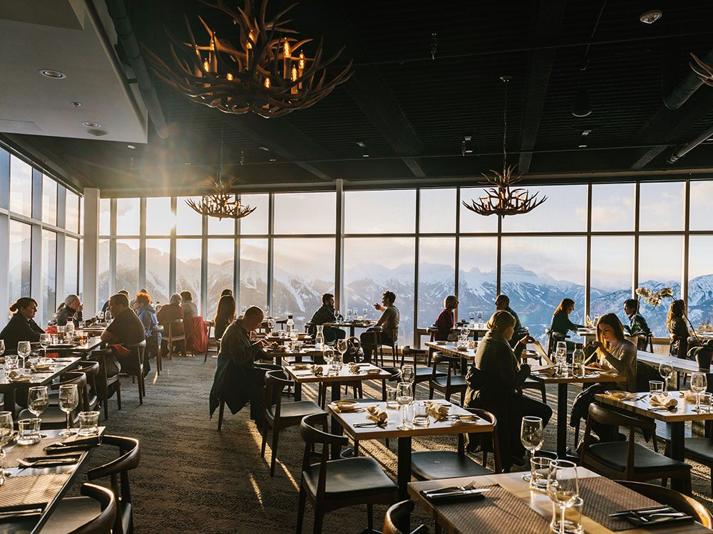 Sky Bistro restaurant in Banff, Alberta