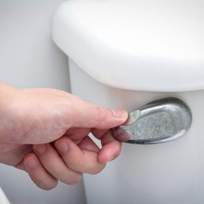 Common bathroom mistakes - Flushing toilet with the lid up