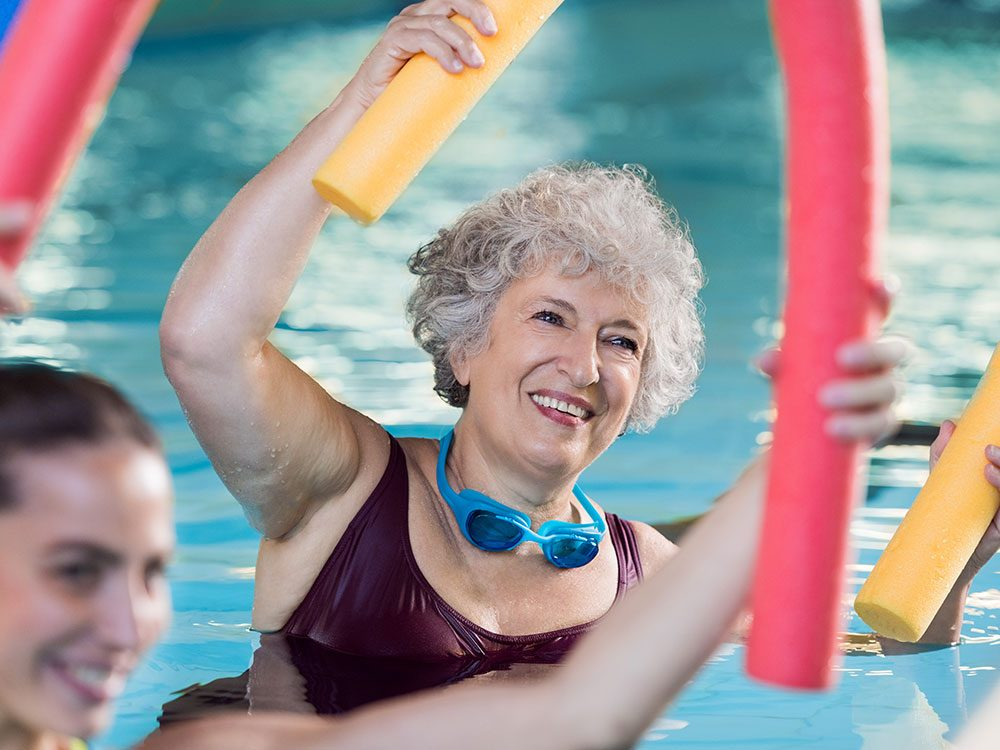 Best exercises for seniors: Swimming