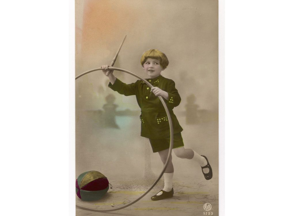 1900s boy with toy