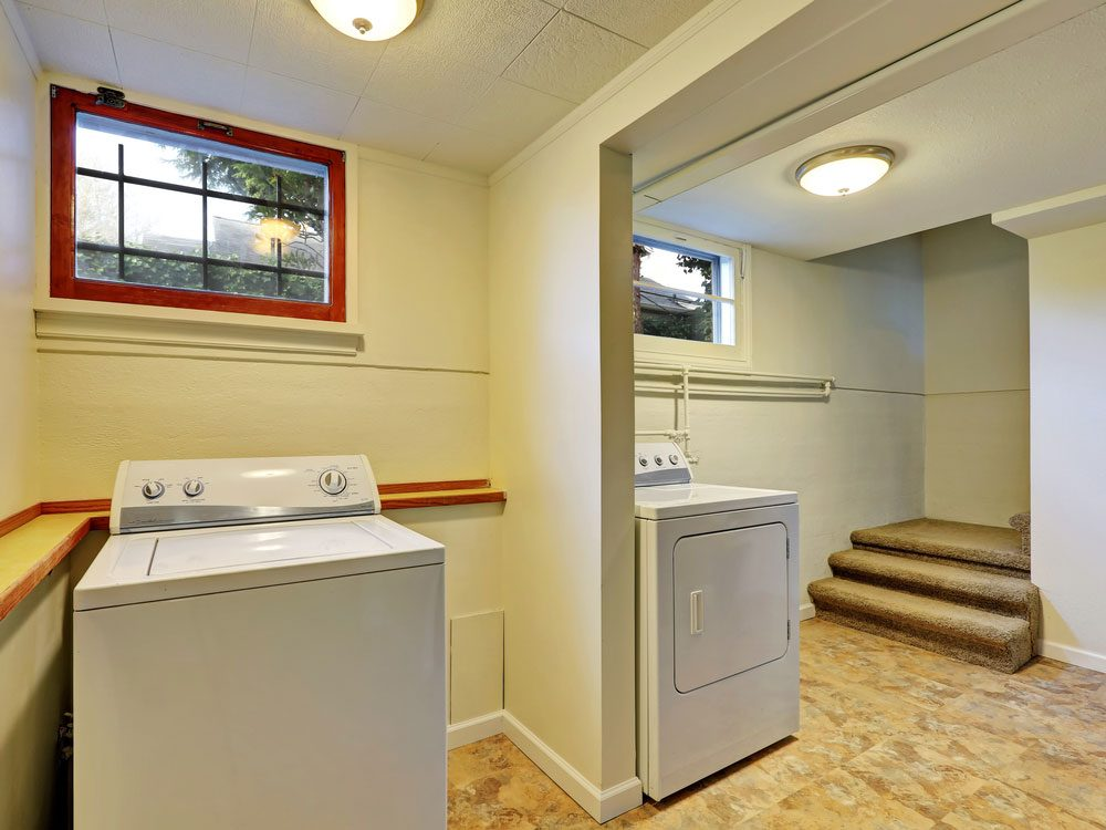 Ordinary How To Eliminate Musty Smell From Basement Part - 9: Laundry Room In Basement