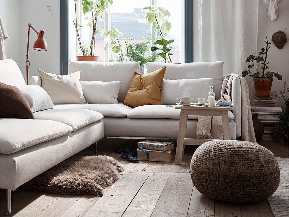 New IKEA catalogue: Sandared pouffe