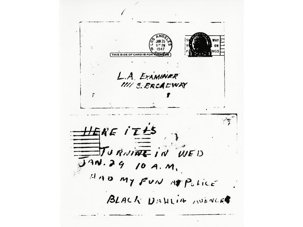 Black Dahlia letter