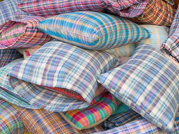 Uses for pillowcases - multi-coloured pillowcases