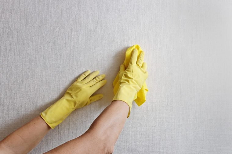 Cleaning wall