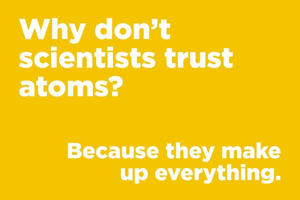 Why don't scientists trust atoms?