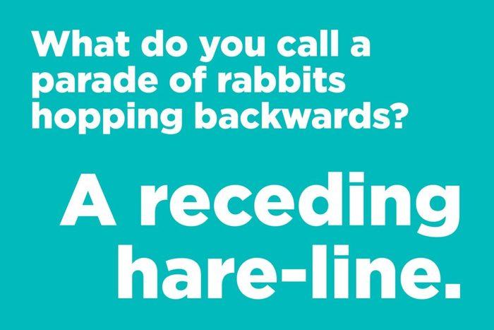 What do you call a parade of rabbits hopping backwards?