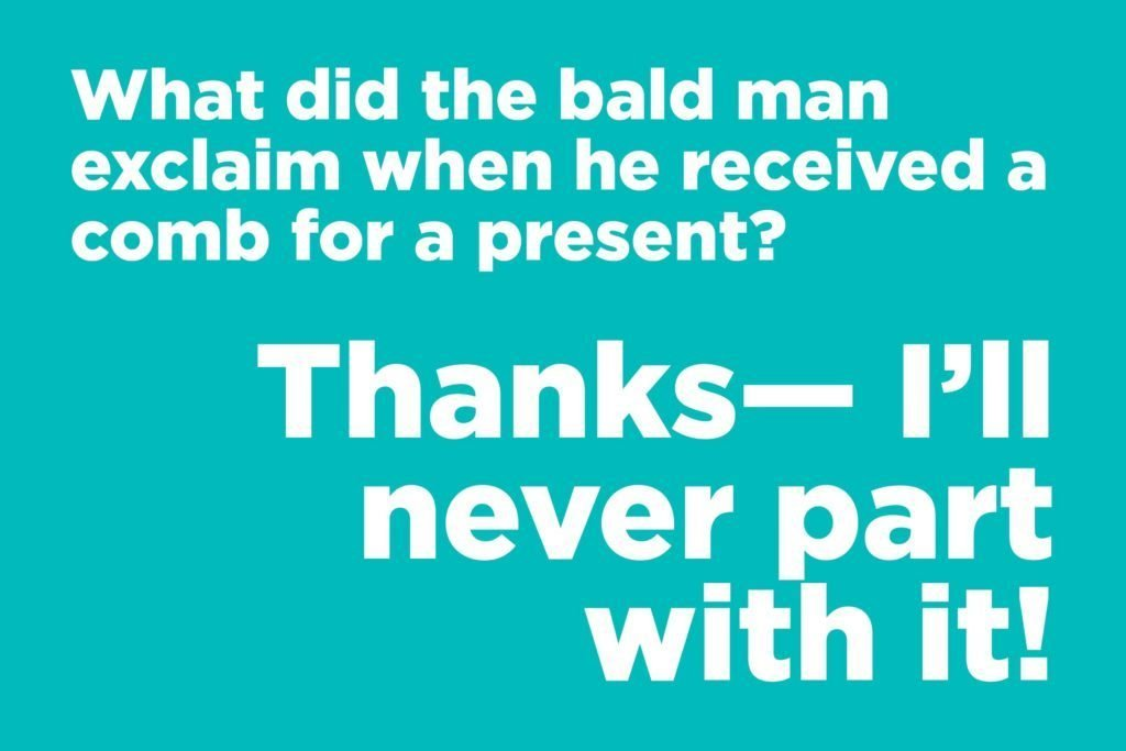 Bald man joke