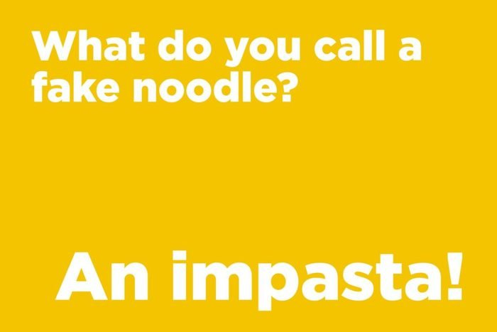 What do you call a fake noodle?