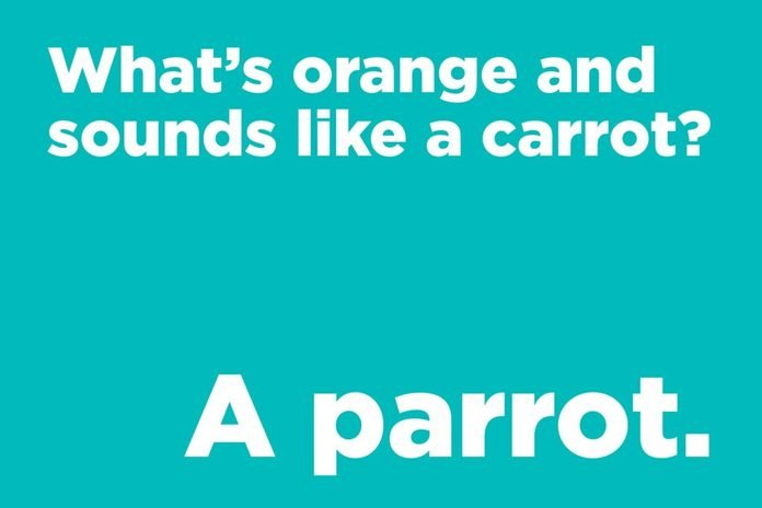 What's orange and sounds like a carrot?