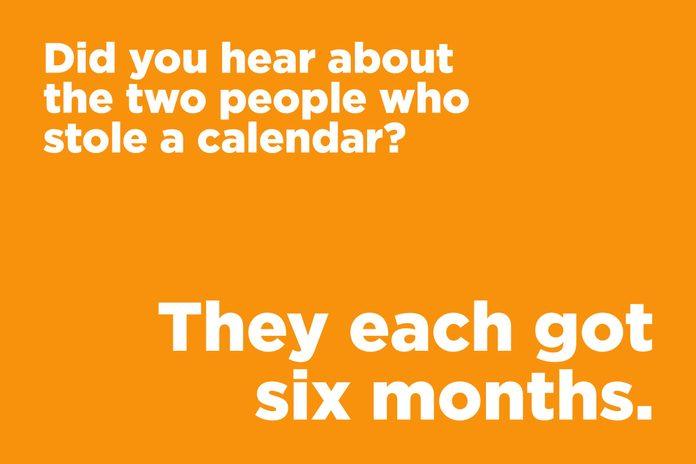 Calendar joke
