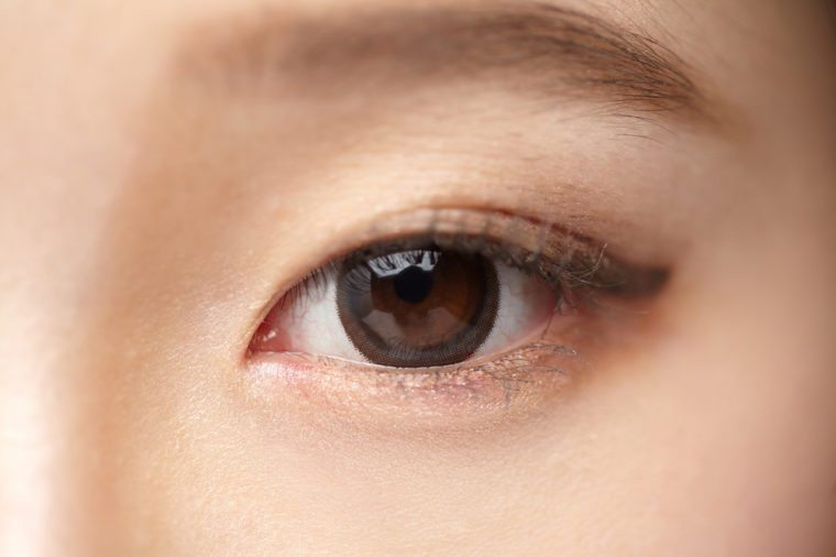 Close-up of Asian woman's eyes