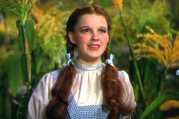 "Judy Garland as Dorothy in ""The Wizard of Oz"""