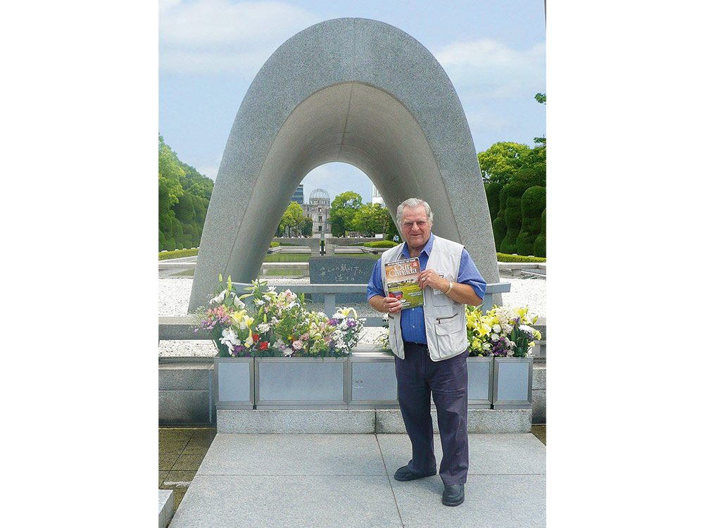 Val Mohr at the Hiroshima Peace Memorial