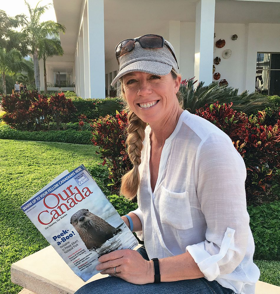 Our Canada magazine in Mayan Riviera, Mexico