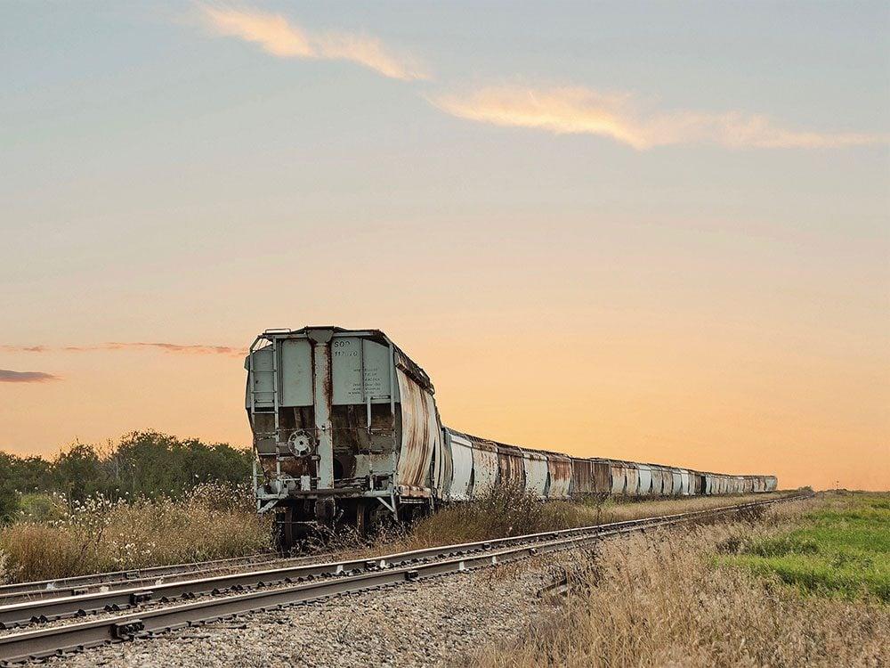 Abandoned train in Saskatchewan