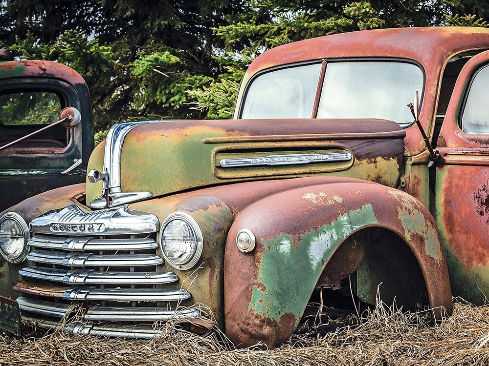 Old truck put out to pasture