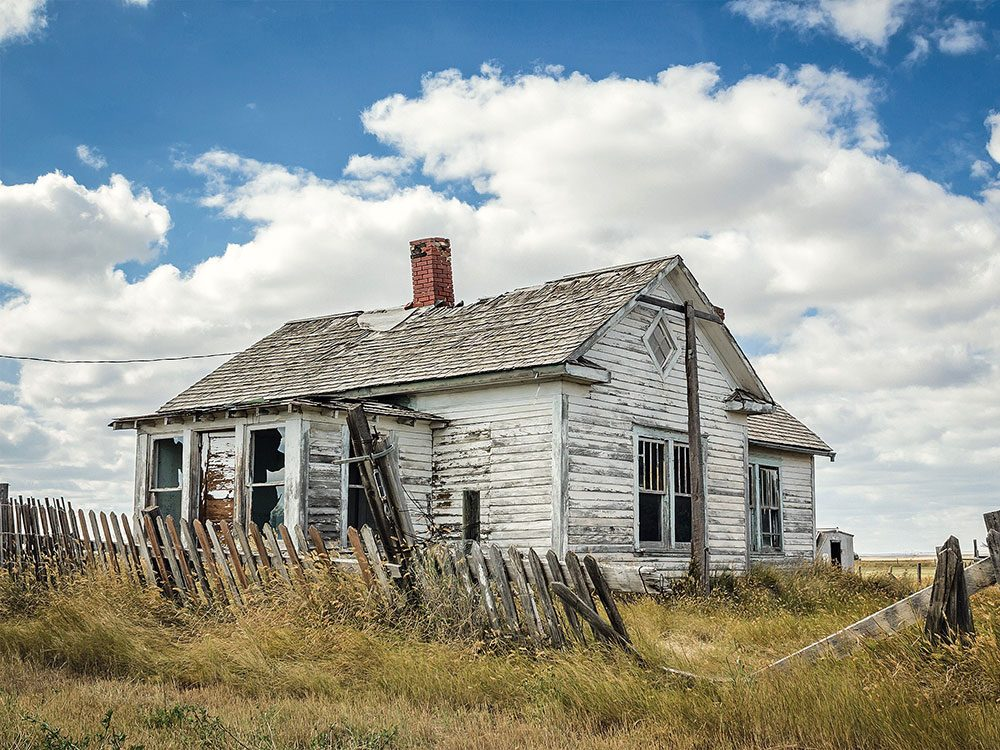 Abandoned home in Robsart, Saskatchewan