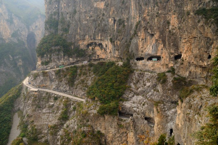 Wall road in Shanxi, China
