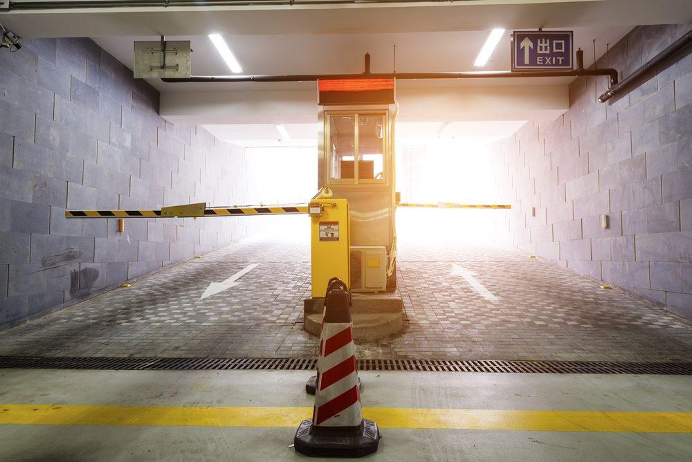 Gate of underground parking garage
