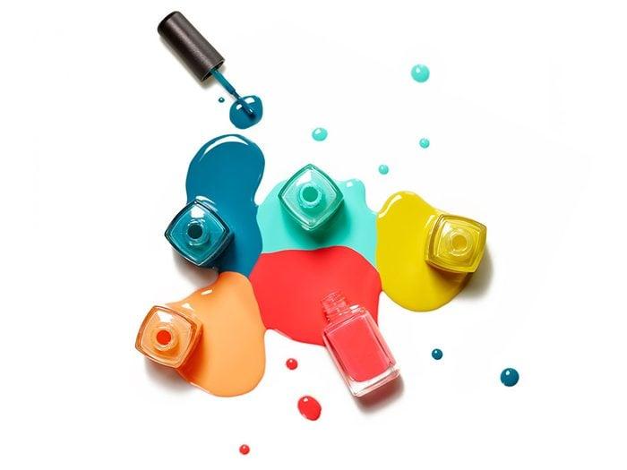 Use nail polish remover to revive nail polish