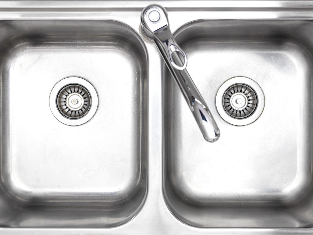 Uses for Flour: Add lustre to a stainless steel sink