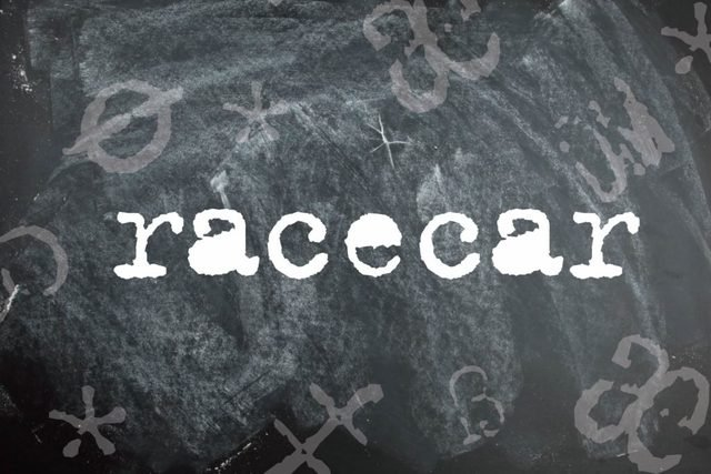 Racecar is a palindrome