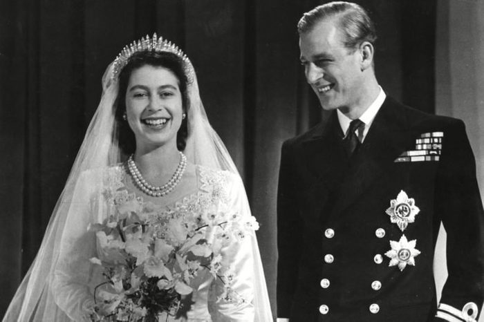 Princess Elizabeth (queen Elizabeth Ii) and Prince Philip Duke of Edinburgh (formerly Lieutenant Philip Mountbatten) Pose Together For an Official Photograph Following Their Marriage at Westminster Abbey On 20 November 1947 1947