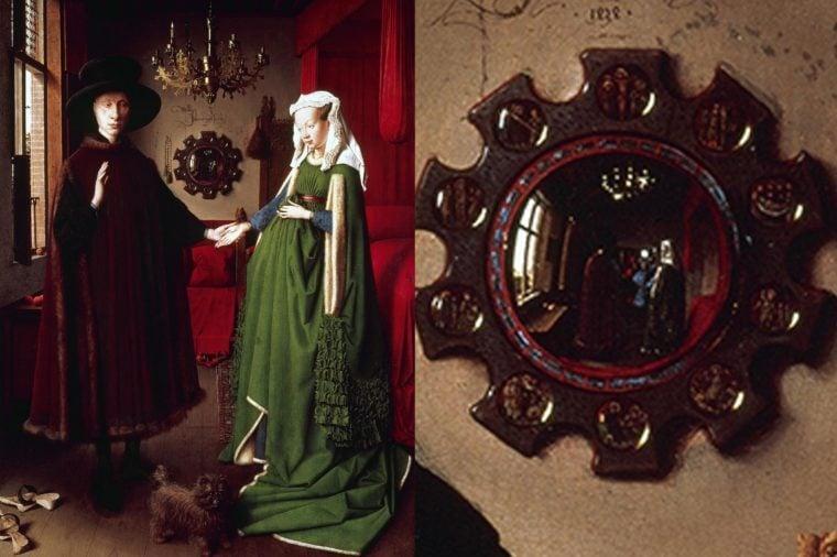 The Arnolfini Portrait by Van Eyck.
