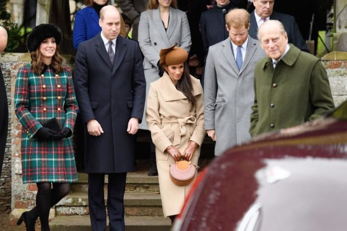Catherine Duchess of Cambridge, Prince William, Meghan Markle, Prince Harry and Prince Philip