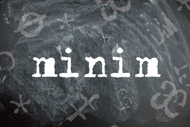 Minim is a palindrome