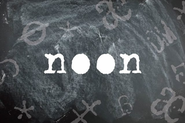 Noon is a palindrome