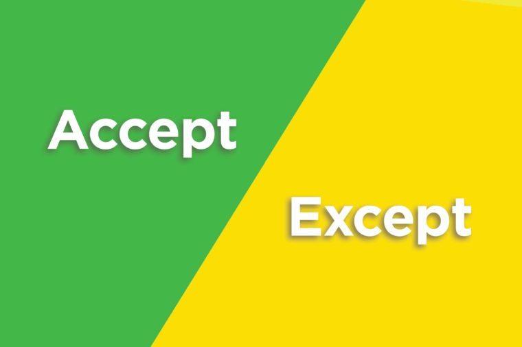 accept except