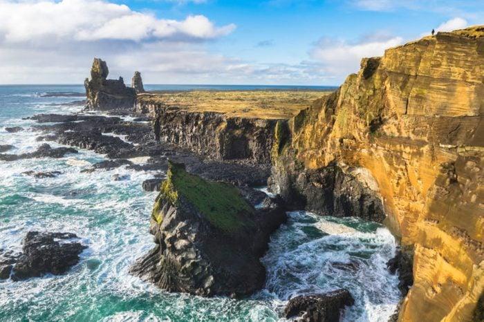 Beautiful view of Londrangar Rocky cliffs in Snaefellsnes Peninsula - Iceland