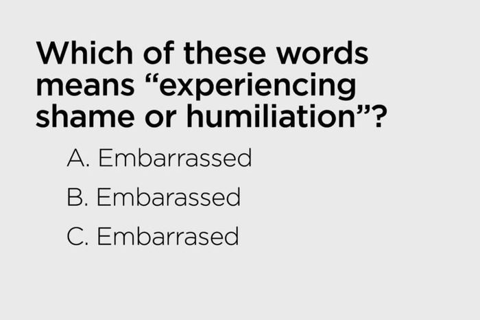 means experiencing shame