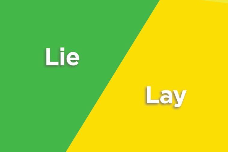 lie lay