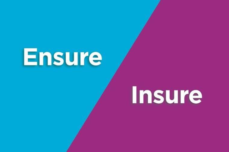 ensure insure