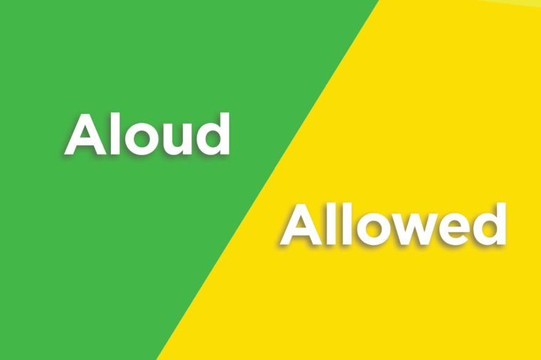 aloud allowed
