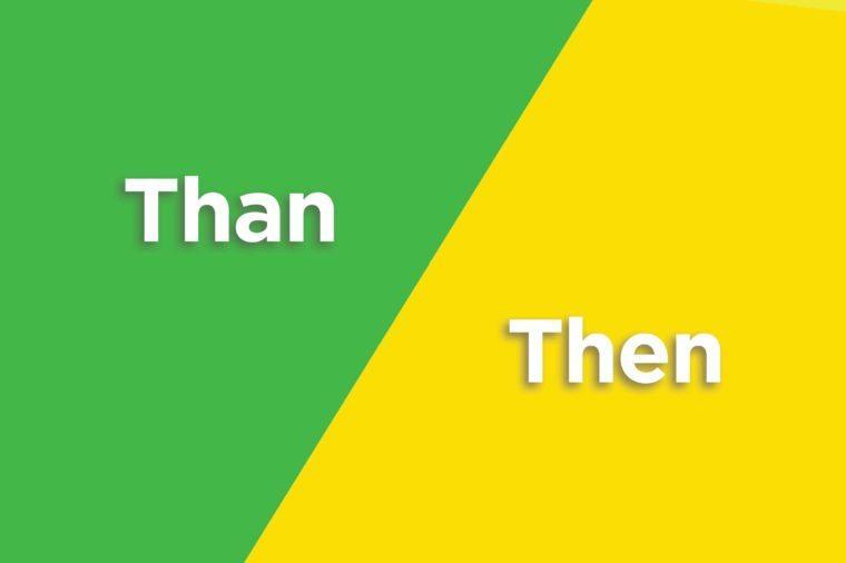 than then