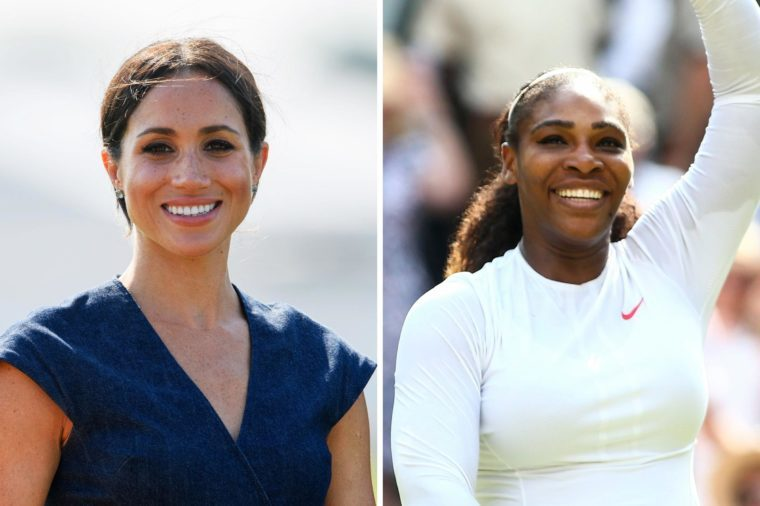 Meghan Markle and Serena Williams